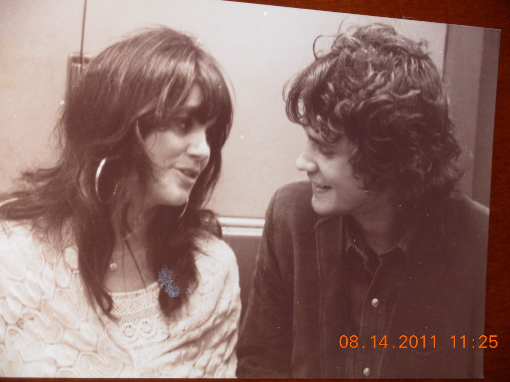 With Linda Ronstadt on the subway to Central Park for her show with Tim Buckley, 1969