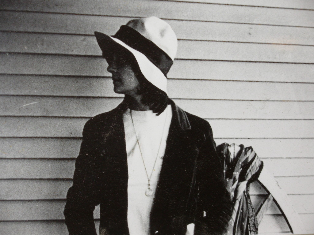 I took this photo of Jerene on Gordon Alexander's porch, late '70's. The hat was lost at a Bob Dylan concert.
