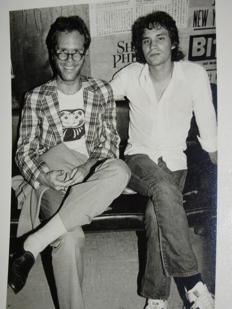 Ebet Roberts took this one back stage at the Bitter End, NYC 1978