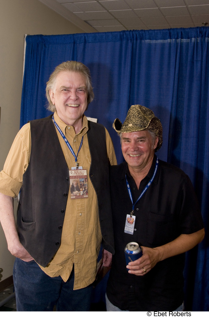 Guy Clark-Keith Sykes backstage at the Keith Sykes Songwriter Celebration held at the Agri Center  in Memphis, TN on September 5, 2008.