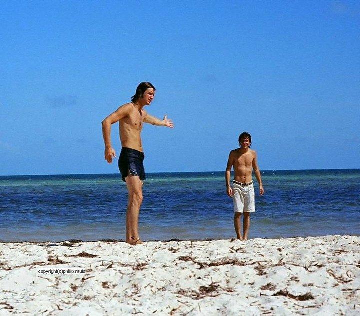With Photolog creator Phillip Rauls near Coconut Grove - early '70s