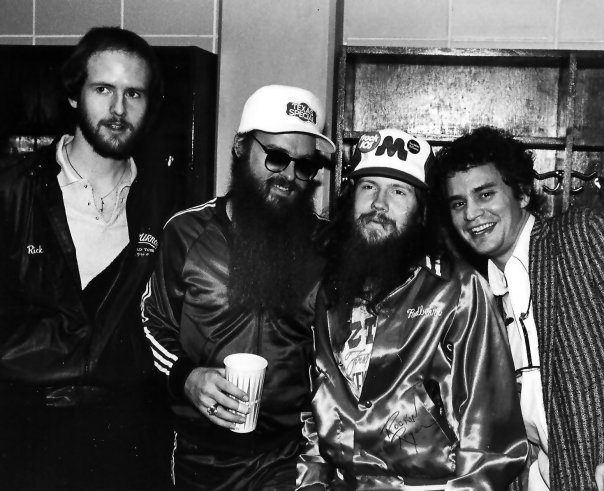 With Rick Earwood, Billy Gibbons and Redbeard