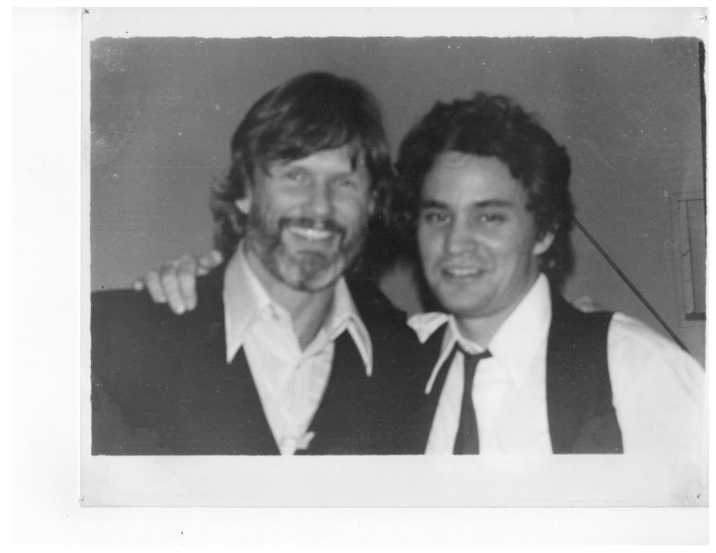 With Kris Kristofferson 1979 NYC