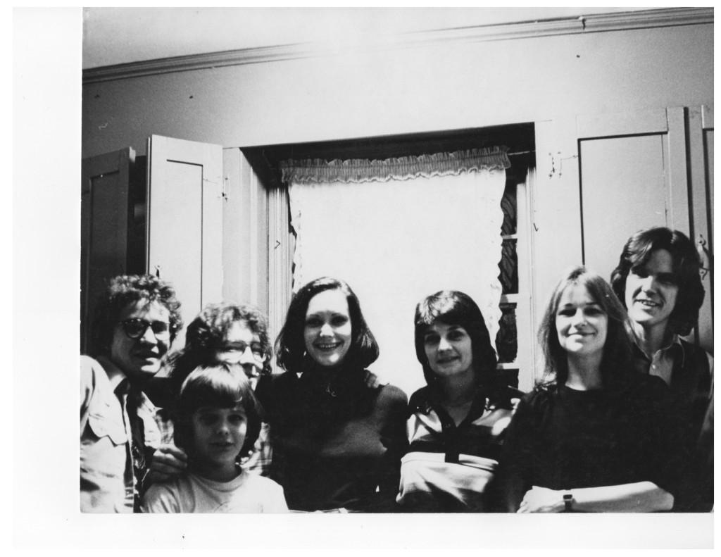 With (child) Travis Clark, Russell & Geneva Smith, Jerene Sykes, Susanna & Guy Clark New Year's Eve '77